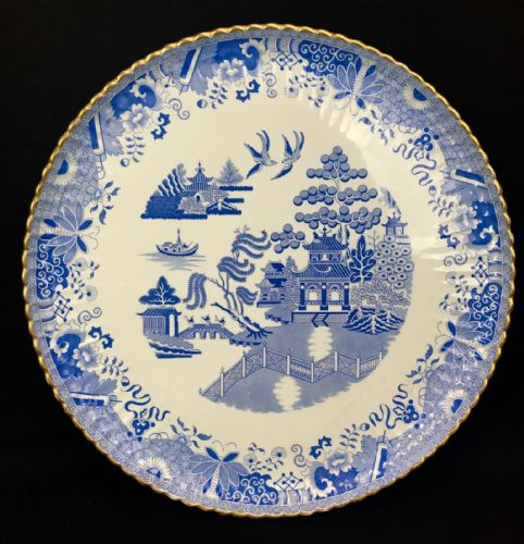 Antique Copeland Spode Blue And White Tray / Large / Plate / Oriental Design